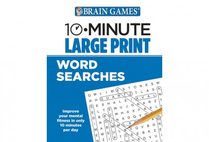 10-Minute Large Print Word Searches