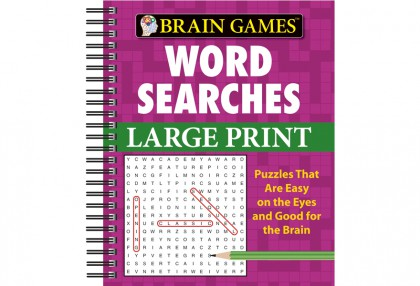 Large Print Word Searches (Purple)