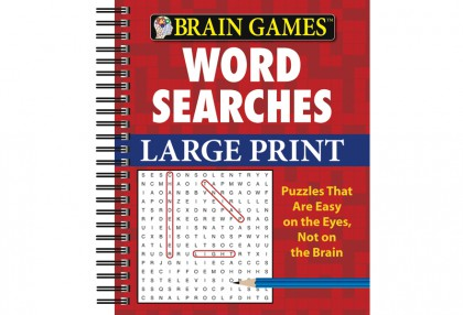 Large Print Word Searches (Red)