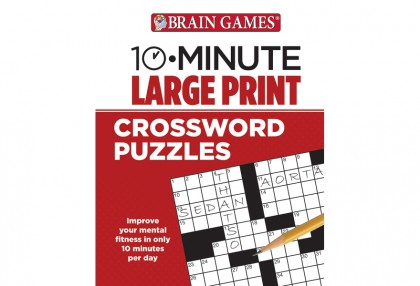 10-Minute Large Print Crossword Puzzles