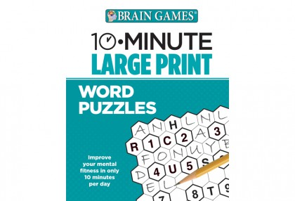 10-Minute Large Print Word Puzzles
